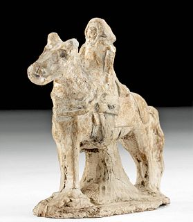 15th C. European Pottery Horse and Rider