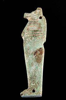 Egyptian Faience Pendant Jackal Head Son of Horus