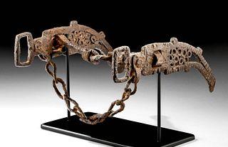 Ornate 8th C. Viking Forged Iron Horse Bit (2 pcs)