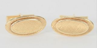Pair of 14 Karat Gold Cufflinks, 12.7 grams. Provenance: From the Robert Cerciello Collection, West Hartford, Connecticut.