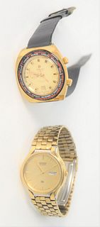 Two Men's Wristwatches, to include one Atlantic 17 jewel Travel Mate alarm along with Seiko Quartz.