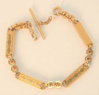 Gold Plated Victorian Watch Chain.
