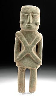 Huge Guerrero Chontal Stone Standing Figure