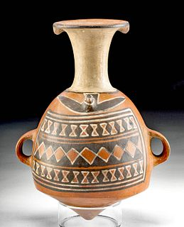 Wonderfully Decorated Inca Pottery Aryballos