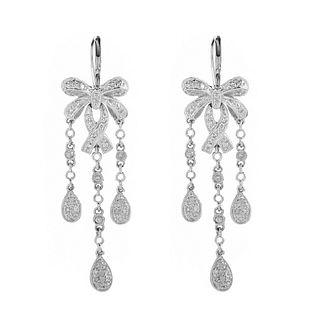 Diamond and 14K Earrings
