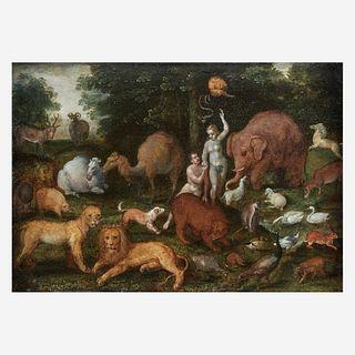 Attributed to Cornelisz Molenaer (Flemish, 1540–1589), , Adam and Eve in the Garden of Eden