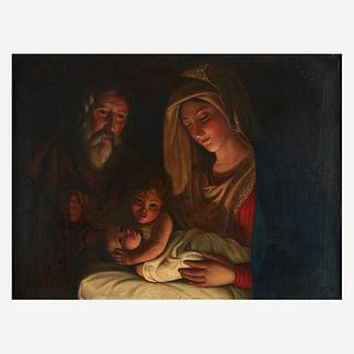 School of Georges de La Tour (French, 1593–1652), , The Holy Family