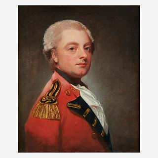 George Romney (British, 1734–1802), , Portrait of Sir Michael le Fleming, 4th Baronet, Bust-Length