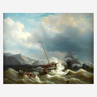 Petrus Jan (Johannes) Schotel (Dutch, 1808–1865), , The Rescue Party