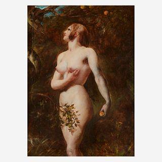 William Etty (British, 1787–1849), , The Temptation of Eve (In the Garden)