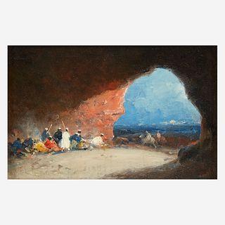 Mariano José María Bernardo Fortuny y Carbó (Spanish, 1838–1874), , Arabs in a Cave by the Sea