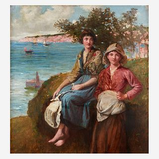 Frederick Morgan (British, 1856–1927), , On the Cliffs