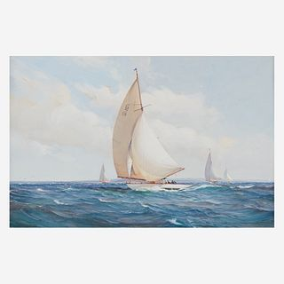 Montague Dawson (British, 1895-1973), , The Racing Six