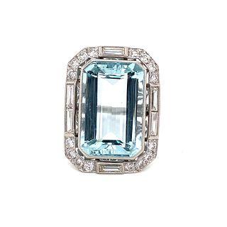 Platinum Diamond Aqua RingÊ