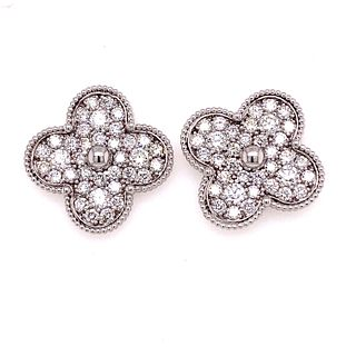 14k Diamond Clove Alhambra Style