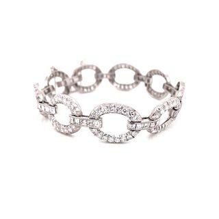 18k Asher & Round Diamond Bracelet