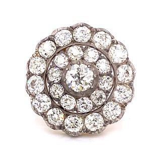 Georgian Silver & Gold Diamond Ring