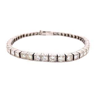 1920Õs Platinum Diamond Tennis Bracelet