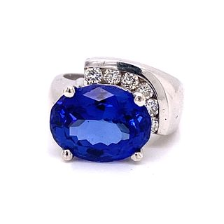 Avant Garde Danzanite Diamond Ring