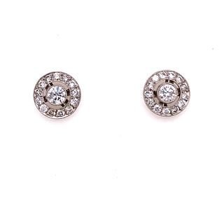 Platinum Diamond Round Stud EarringsÊ