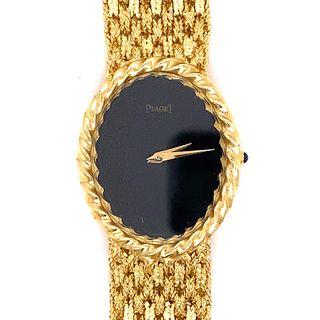 18k Gold Onyx PIAGET Ladies Watch