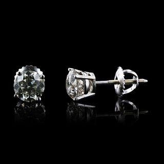 1.96ctw Diamond 18KT White Gold Earrings