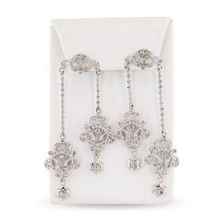 1.62ctw Diamond 14K White Gold Earrings