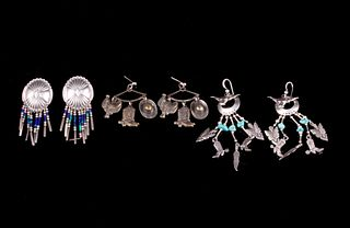 Navajo Silver Turquoise Dangle Earring Collection