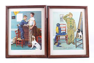 Two Framed Norman Rockwell Boy Scout Prints