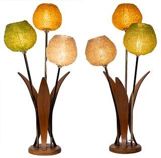 MCM 3-Globe Spaghetti String Table Lamps