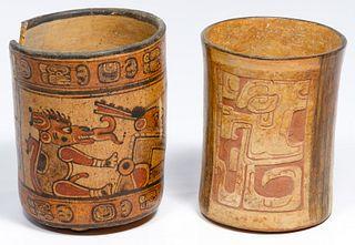 Mayan Cylinder Vases