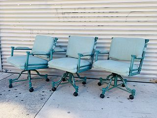Set of 3 Vintage Chairs by Minson Made in The USA