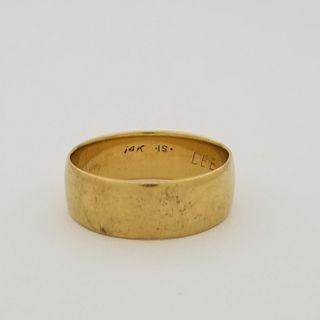 Mens Gold Wedding Band 14k