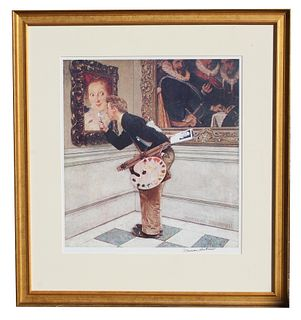 "Norman Rockwell ""Art Critic"""