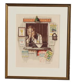 "Norman Rockwell ""Ticketseller"""