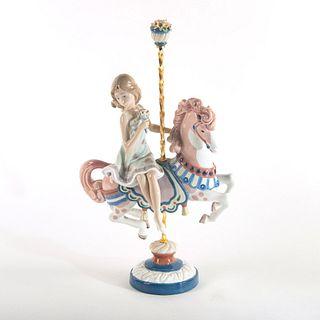 Girl On Carousel Horse 1001469 - Lladro Porcelain Figure