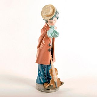 Clown with Violin 1005057 - Lladro Porcelain Figure