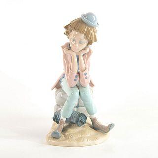 Clown Thinking 1005058 - Lladro Porcelain Figure