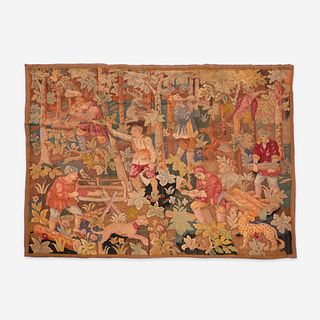 A Flemish Verdure Tapestry Fragment, Late 16th/early 17th century