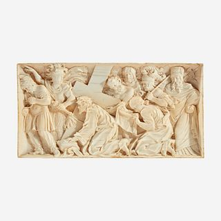 A Collection of Three Carved Devotional Panels*, Mostly Northern European, likely 18th century