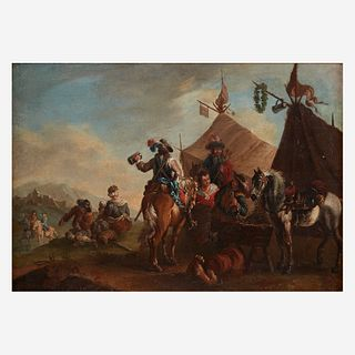 After Philips Wouwerman (Dutch, 1619–1668) | An 18th Century Work, , Encampment of Riders