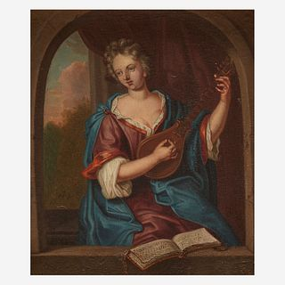 Manner of Gerrit Dou (Dutch, 1613–1675) | An 18th Century Composition, , Lady Playing the Mandolin