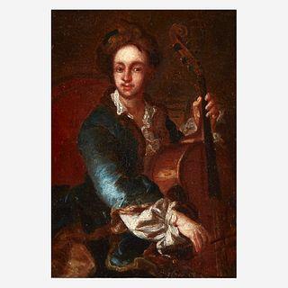 Manner of Johann (Jan) Kupetzki (German, B.C. 1667–1740), , Baroque Cellist