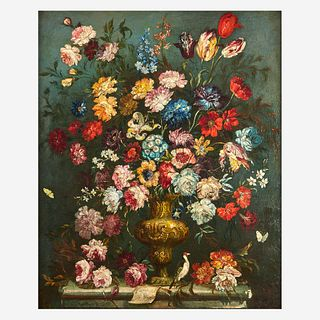 Manner of Pieter Casteels III (Flemish, 1684-1749), , Still Life of Mixed Flowers in an Urn