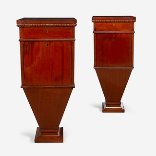 A Pair of Regency Mahogany Cellarettes, First quarter 19th century