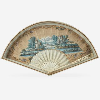 A Louis XV Hand-Painted Fan, 18th century