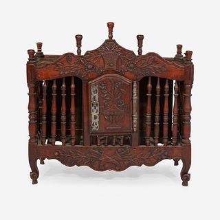 A Provincial Louis XV Steel-Mounted Walnut Panettiere, 18th century with later repairs