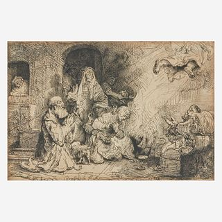 Rembrandt van Rijn (Dutch, 1606–1669), , The Angel Departing from the Family of Tobias