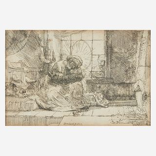 Rembrandt van Rijn (Dutch, 1606–1669), , The Virgin and Child with the Cat and the Snake