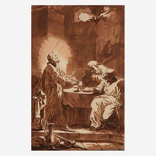 Johan van Haensbergen (Dutch, 1642-1705), , Christ in Emmaus